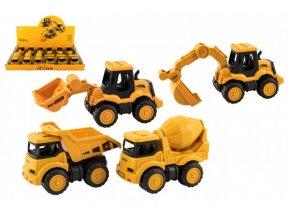 Stavební stroj plast 11-14cm na setrvačník 4 druhy (1 ks)