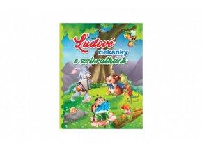 Kniha Ľudové riekanky o zvieratkách SK verzia 19,5x25cm