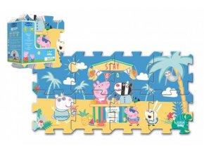 Pěnové puzzle Prasátko Peppa/Peppa Pig 32x32cm 8ks v sáčku