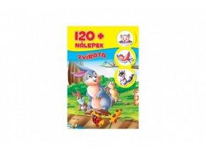 Knížka se samolepkami 120+ Zvířata CZ verze skladem