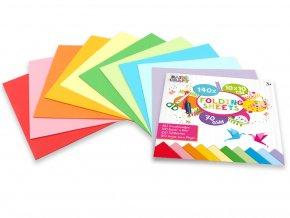 Sada barevných papírů 10x10 cm