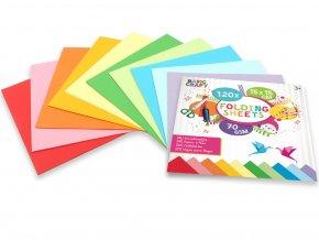 Sada barevných papírů 15x15 cm