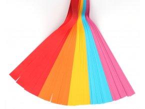 Sada barevných papírů proužky