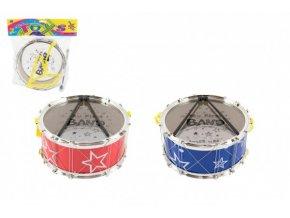 Bubínek plast 21x10cm s popruhem a paličkami v sáčku