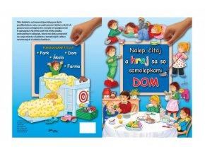 Kniha Nalep, hraj sa/Dom so samolepkami SK verzia 21x28cm