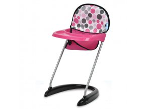 Jídelní židlička - puntíky - skladem
