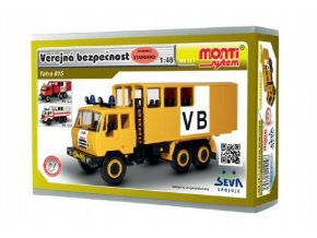 Stavebnice Monti 12.1 Tatra 815 VB Veřejná bezpečnost 1:48 v krabici 22x15x6cm