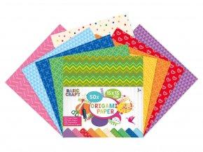 Sada barevných papírů Origami 15x15 skladem