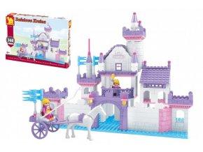 Stavebnice Dromader hrad pro holky 368 dílků v krabici 38x28x6cm
