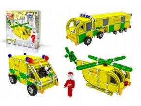 Stavebnice SEVA RESCUE 3 (záchranáři) plast 537ks v krabici 35x33x8cm