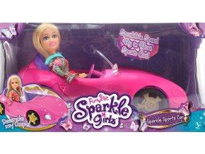 Módní panenka Sparkle Girlz se závodním autem - skladem