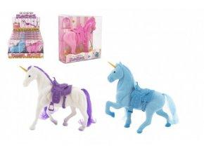 Jednorožec kůň fliška se sedlem 16cm 3 barvy v krabičce 16x17x5,5cm (1 ks)