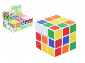 Kostka hlavolam 3x3x3 plast ve fólii 6x6x6cm (1 ks)