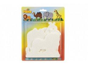 Podložka na zažehlovací korálky Hama 4ks - slon, žirafa, lev, velbloud skladem