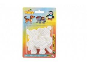 Podložka na zažehlovací korálky Hama 3ks - slon, tučňák, pejsek skladem