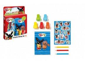 Sada razítek a samolepek Bing Bunny v krabičce 18x25x3,5cm