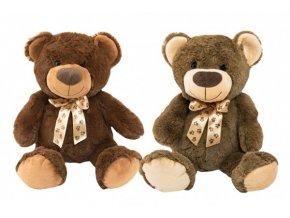 Medvěd s mašlí plyš 50cm 2 barvy 0+