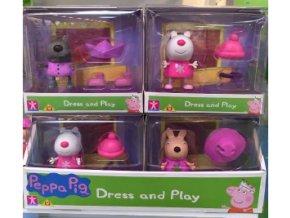 Prasátko Peppa-figurky s módními doplňky skladem