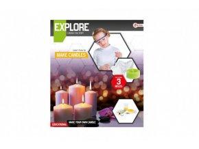 Výroba svíček vědecká hra s formičkami v krabici skladem