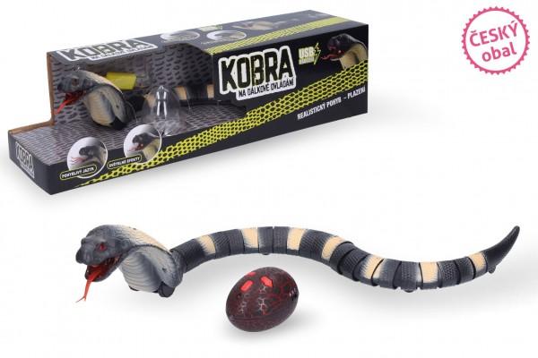 Wiky Kobra RC plast na dálkové ovládání s USB kabelem se světlem v krabici 41x11x11cm