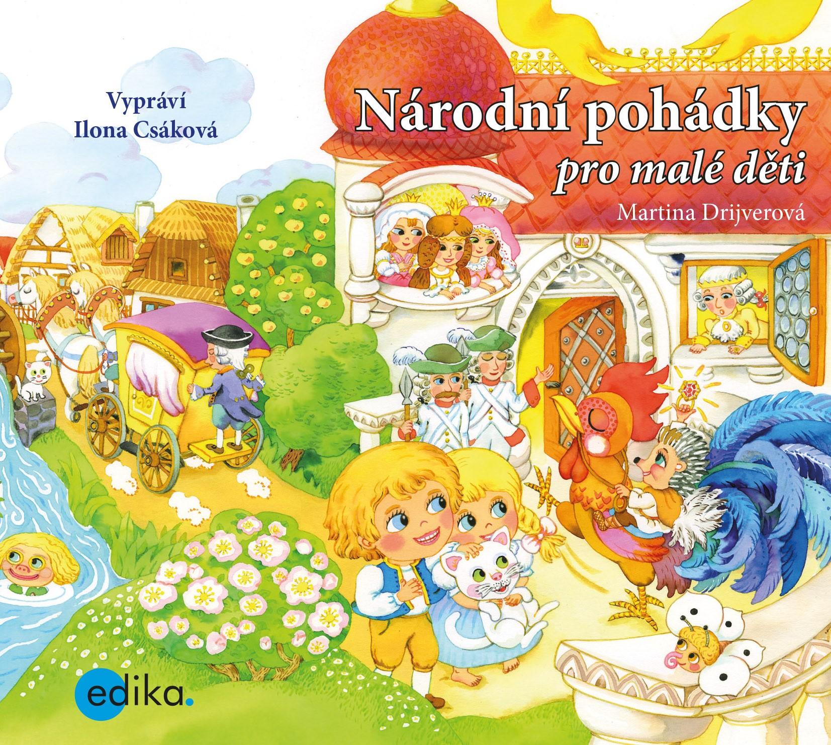 EDIKA Národní pohádky pro malé děti (audiokniha pro děti) - Martina Drijverová