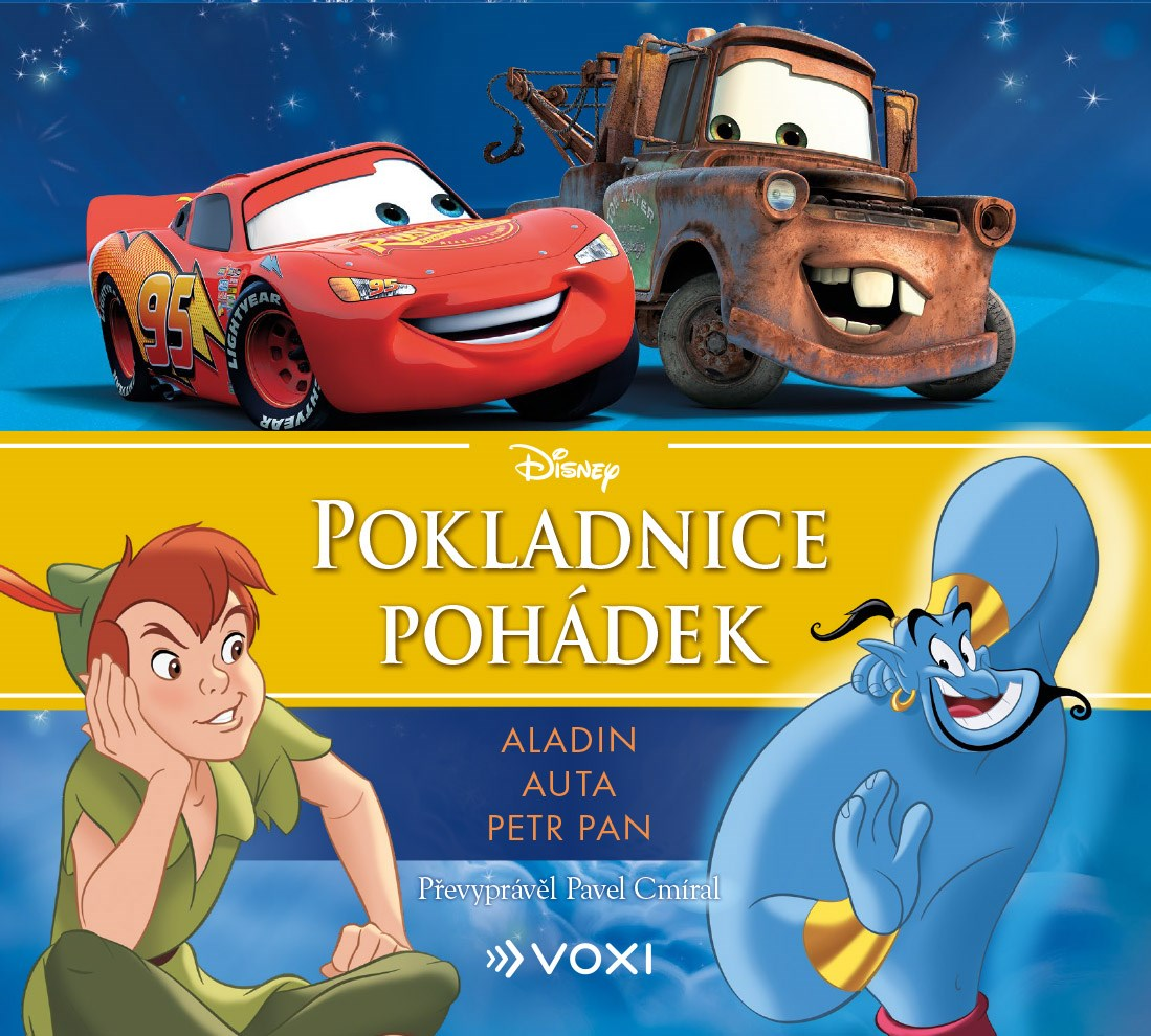 Voxi Disney - Aladin, Auta, Petr Pan (audiokniha pro děti) - kolektiv