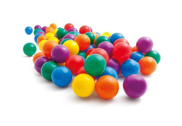 Teddies Míčky do suchého bazénku či hracích koutů - 8cm, 100ks v balení