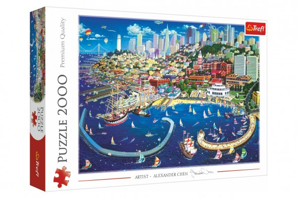Trefl Puzzle Záliv v San Francisku 2000 dílků 96,1x68,2cm v krabici 40x27x6cm