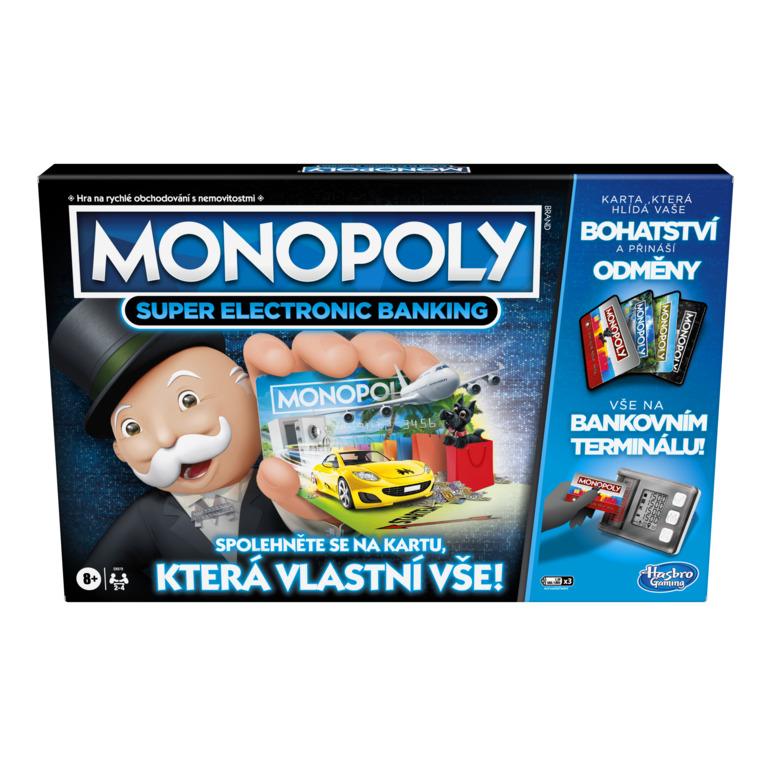 Levně Hasbro Monopoly Super elektronické bankovnictví CZ verze