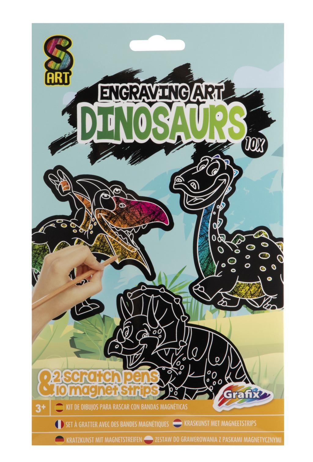 RMS Vyškrabávací magnety Víly + Dinosauři skladem Typ: Dinosaurus