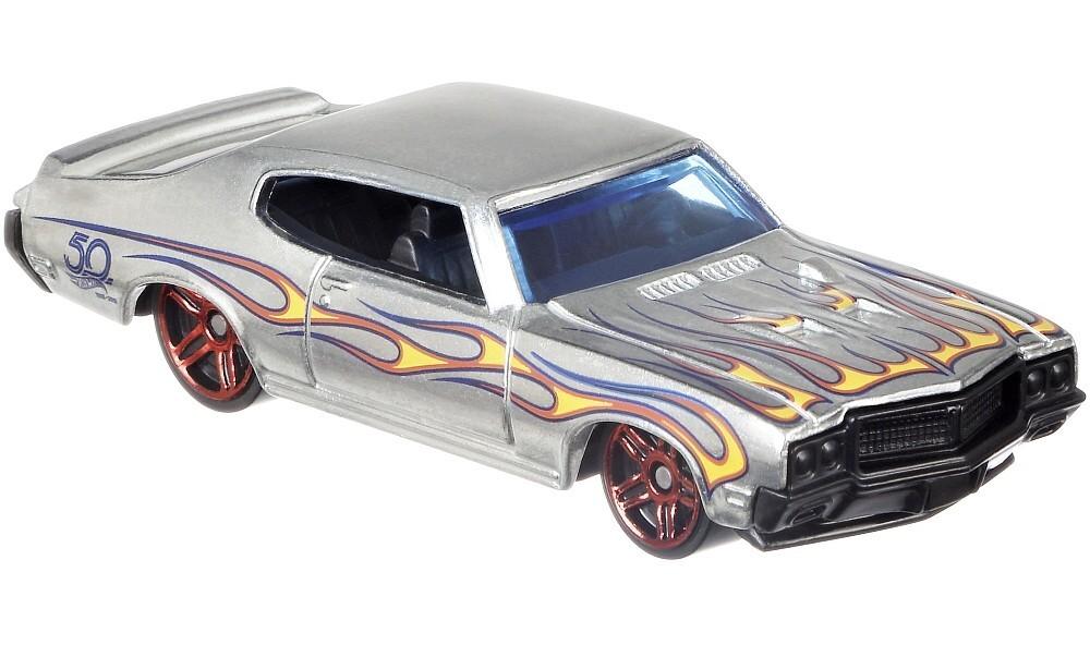 Mattel Hot Wheels '70 Buick GSX - ZAMAC Výroční model 50 let 4/8 FRN27
