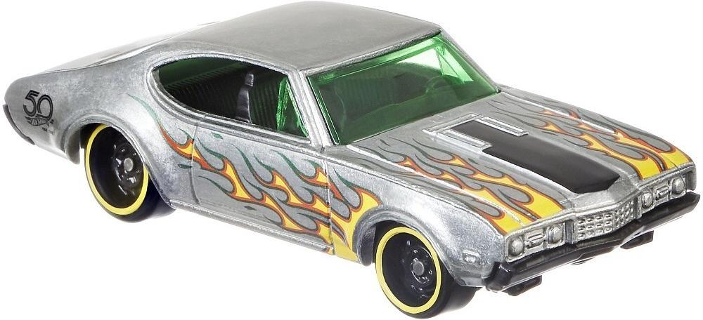 Mattel Hot Wheels '68 Olds 442 - ZAMAC Výroční model 50 let 5/8 FRN28