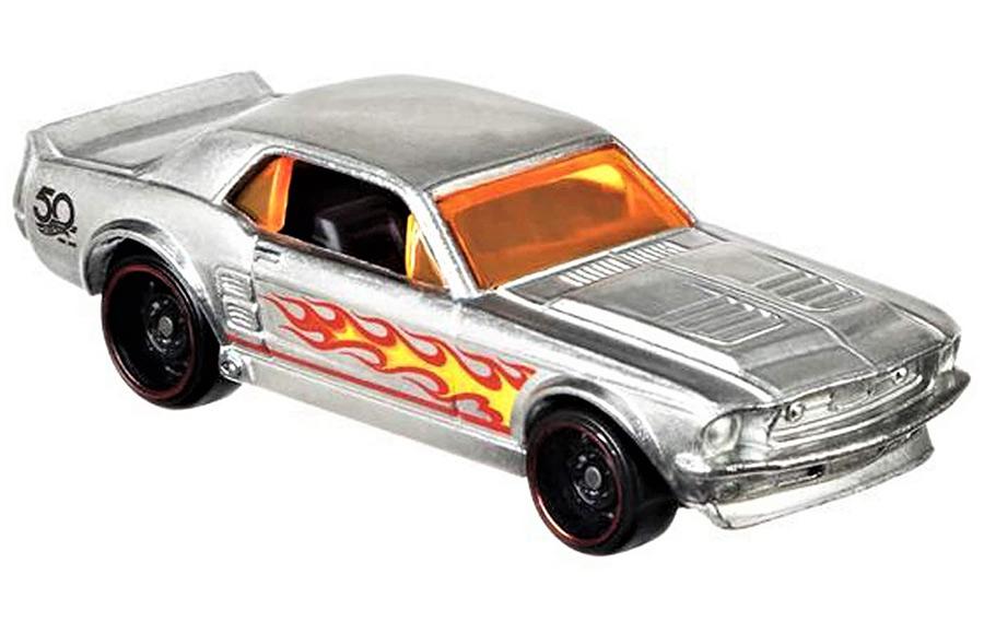 Mattel Hot Wheels '67 Ford Mustang Coupe - ZAMAC Výroční model 50 let 1/8 FRN24