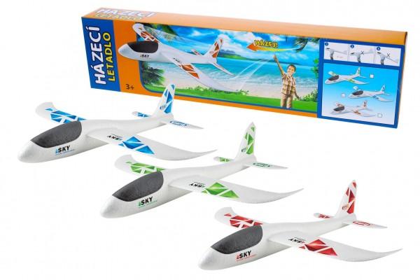 Wiky Letadlo házecí polystyrén model 47x49cm v krabičce 50x13x6cm