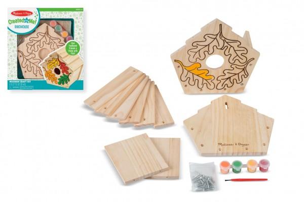 Lowlands Kreativní sada Vyrob si ptačí budku v krabici 24x26x4,5cm