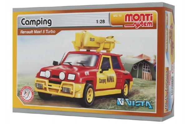 SEVA Stavebnice Monti System MS 15 Camping Renault 5 1:28 v krabici 22x15x6cm