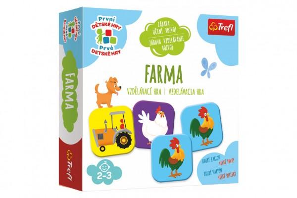 Trefl Farma vzdělávací společenská hra pro nejmenší v krabici 20x20x5cm 24m+