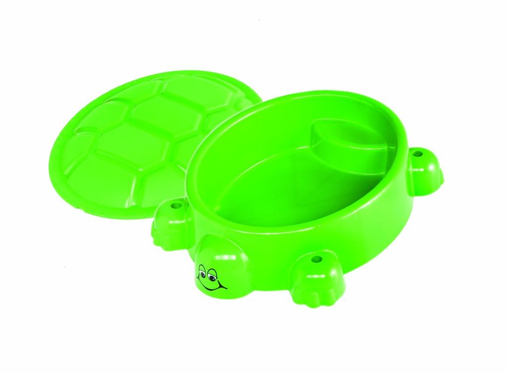 Alltoys Paradiso Pískoviště želva světle zelené s víkem