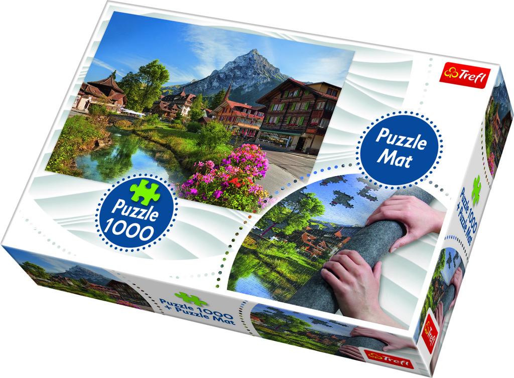 Trefl Puzzle Alpy v létě 1000 dílků podložka na stavění