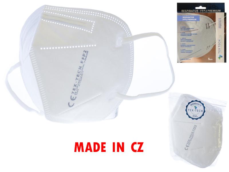 Mikro Trading Respirátor CZ FFP2 Premium 5ks