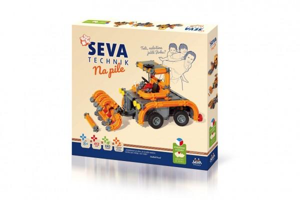 Stavebnice SEVA TECHNIK Na pile plast 412 dílků v krabici 36x34x5cm