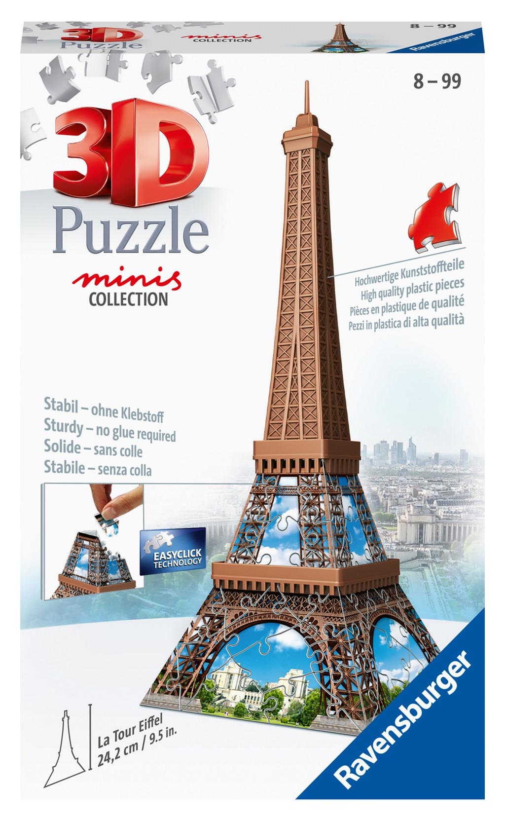 Ravensburger Puzzle 3D Mini budova - Eiffelova věž - položka 54 dílků
