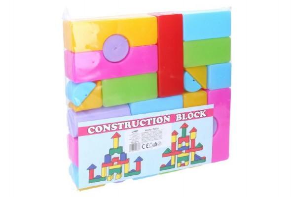 Wiky Kostky stavebnice 24ks plast v sáčku 24x24x4cm