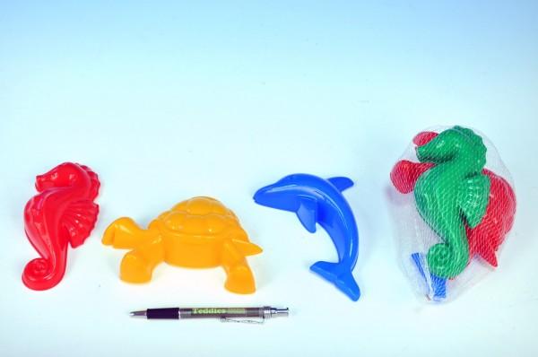 Teddies Formičky Bábovky zvířátka plast na písek 3ks v síťce skladem