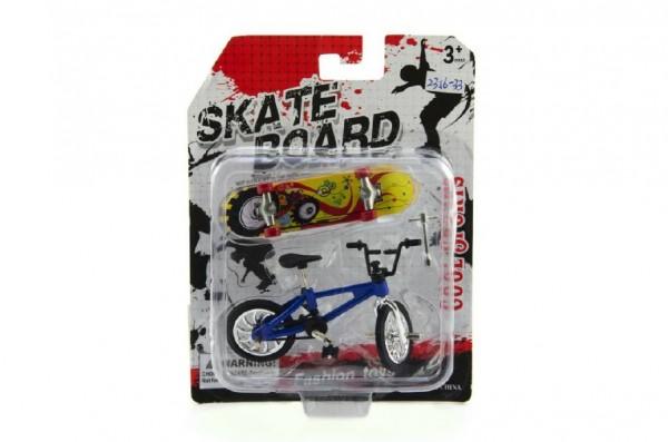 Teddies Kolo + skateboard prstový šroubovací plast 10cm skladem