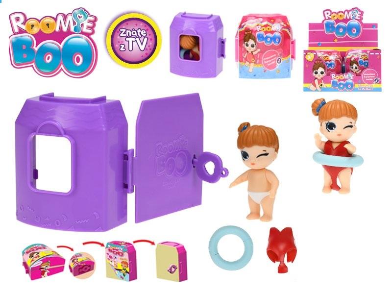 Mikro Trading Roomie Boo Surprise 7druhů panenka + šaty s doplňky v domečku