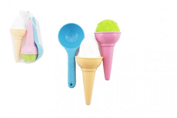 Teddies Formičky Bábovky na písek plast zmrzlina 3ks skladem