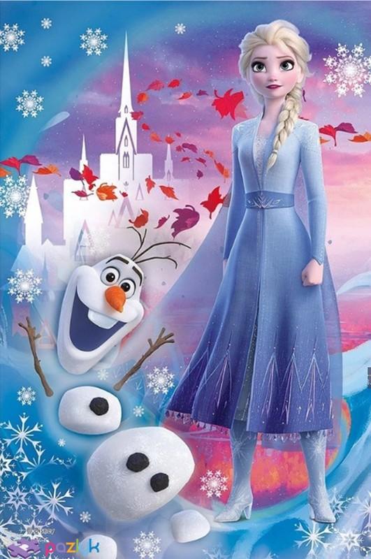 Levně Trefl Minipuzzle 54 dílků Ledové království II/Frozen II Typ: Elsa s Olafem