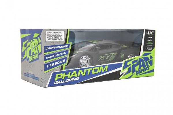 Teddies Auto sportovní RC plast 25cm 27MHz na dálkové ovládání na baterie v krabici 33x13x14,5cm