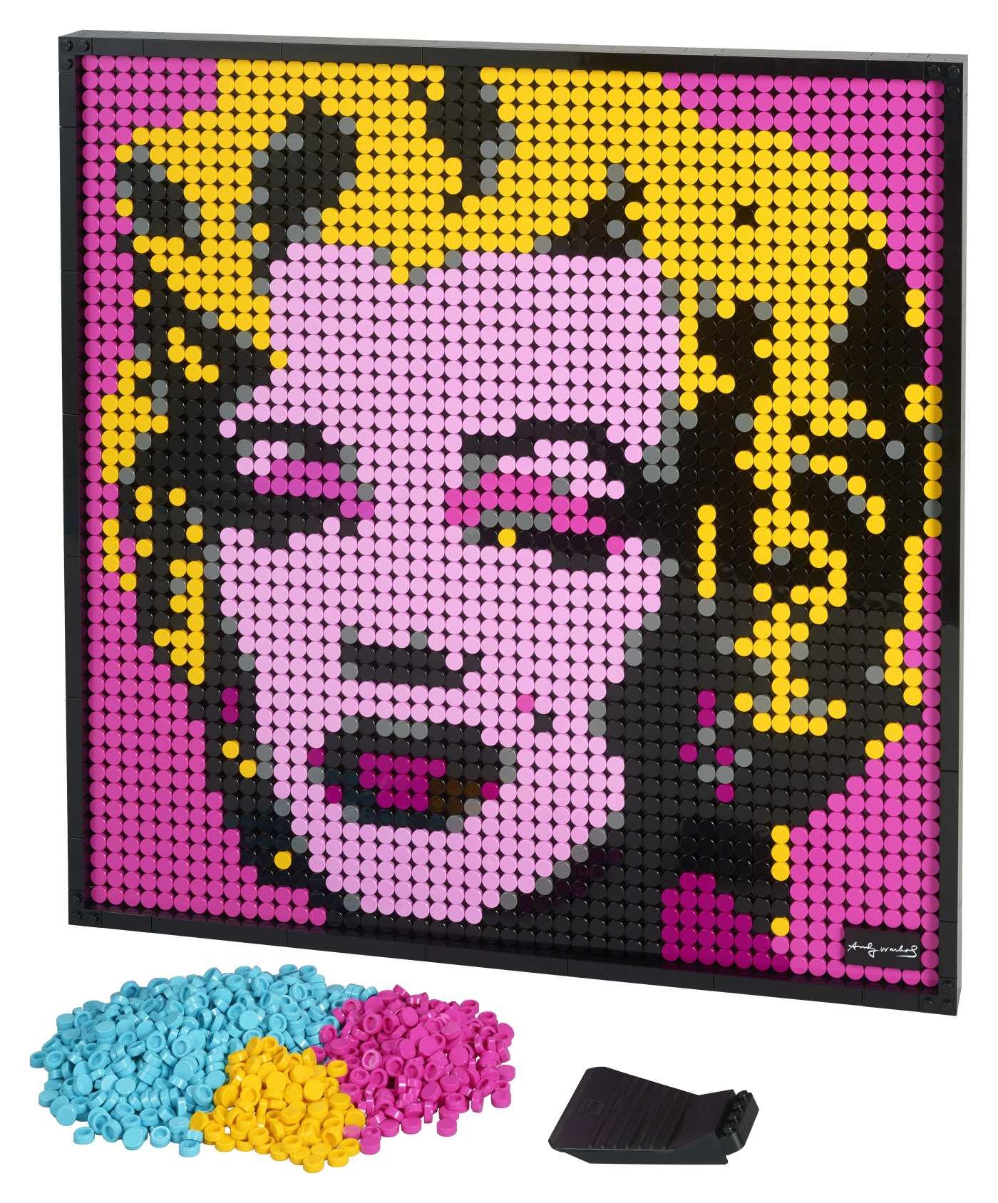 Lego Andy Warhol's Marilyn Monroe